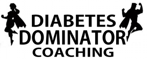 Diabetes Dominator Coaching Superhero Logo v6